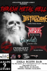 Thrash Metal Hell Open Air Fest a Parma il 9/6