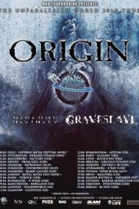 ORIGIN: Tour europeo con Rings of Saturn e Hideous Divinity