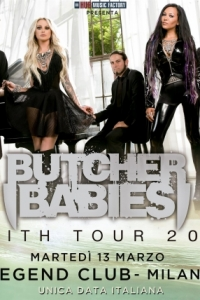 Butcher Babies in marzo a Milano