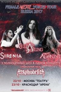 Asphodelia al Female Metal Voices Tour Russia 2017