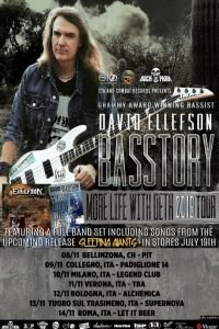 "David Ellefson: le date del ""BASSTORY - More Life with Deth Tour"""