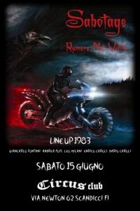 Sabotage live a Firenze il 29/6
