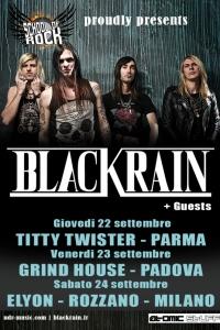 Blackrain in Italia a settembre