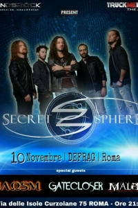 Secret Sphere: live a Roma il 10/11