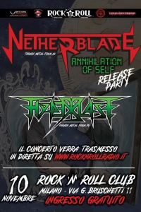 "Netherblade: il video clip di ""Beyond Death"" e i dettagli del release party di ""Annihilation Of Self"""